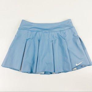 Nike Small Dri Fit Blue Pleated Tennis Skirt
